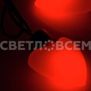 Гирлянда ARL-HEART-5000-20LED Red (220V, 5W). Коробка 1 шт
