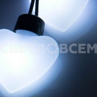 Гирлянда ARL-HEART-5000-20LED White (220V, 5W). Коробка 1 шт